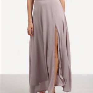 High waist , lavender slit  maxi skirt